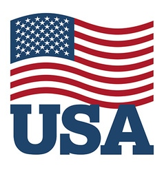 Flag usa developing america flag on white vector