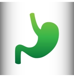 Human anatomy green gradient icon vector
