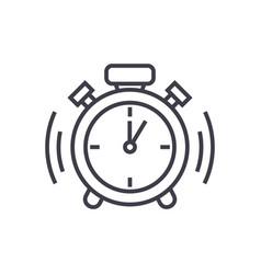 alarm clock line icon sign vector image vector image