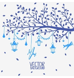 Branch lanterns vector