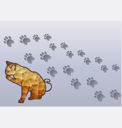 Cat and cats traces vector