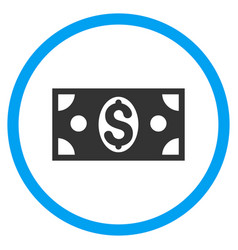 Dollar banknote rounded icon vector
