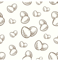 easter eggs seamless texture vector image vector image