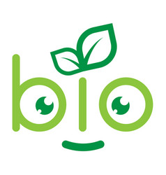 emblem of bio vector image vector image