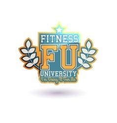 Fitness university vector