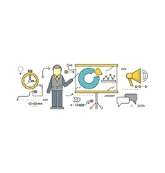 Forecast Concept Icon Flat Style vector image vector image