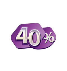 forty percent vector image vector image