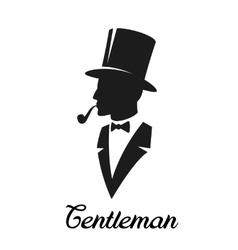Gentlemen silhouette logo vector