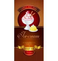 Ice-cream banner vector image vector image