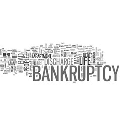 Is life after bankruptcy that bad text background vector