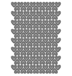 Love heart pattern vector image vector image