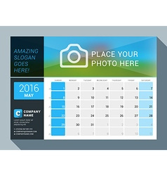 May 2016 Design Print Calendar Template for 2016 vector image
