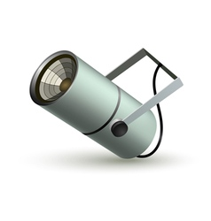 Metal cylindrical spotlight on a white background vector image