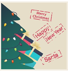 New Year or Christmas greeting card vector image vector image