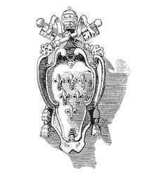 Paul iii is a pope in roman vintage engraving vector