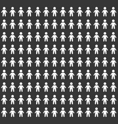 People pattern seamless background on black vector