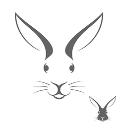 Rabbit head Logo vector image vector image