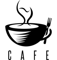 restaurant or cafe concept with cup of coffee and vector image