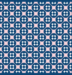seamless pattern funky geometric texture pink blue vector image