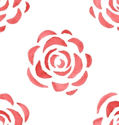 Seamless pattern with watercolor roses vector image vector image