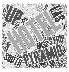 South Strip of Las Vegas Word Cloud Concept vector image vector image