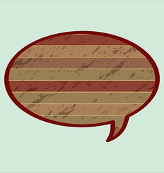 Speech Bubble in Wood Style vector image