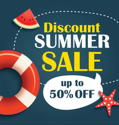 Summer sale background banner template voucher vector
