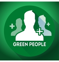 Teamwork association of green people sign icon vector