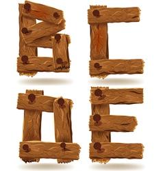 wooden B C D E vector image vector image