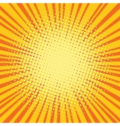 Yellow orange rays comic pop art retro background vector image vector image