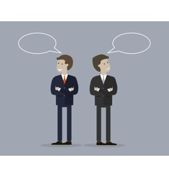 Two businessman with bubble talk vector