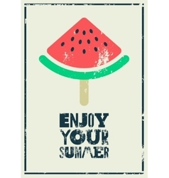 Summer time phrase typographical grunge poster vector