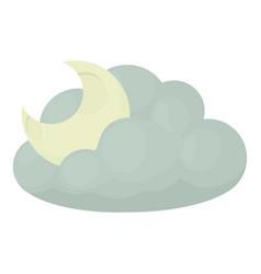Night icon cartoon style vector