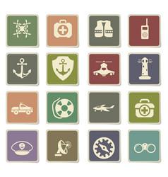 coast guard icon set vector image