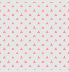 Tile pattern with pink triangles on grey vector
