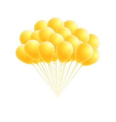 Bunch birthday or party yellow balloons vector