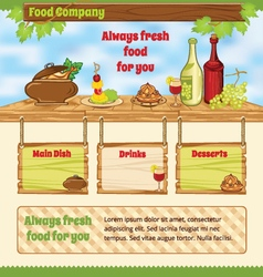 Background for food template vector image