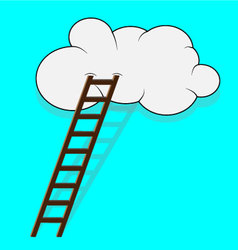 Stairway to the cloud vector