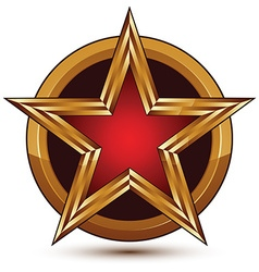 Glorious glossy design element luxury 3d red star vector