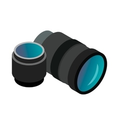 Interchangeable lens digital camera icon vector