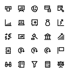 Market and economics icons 1 vector