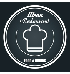 Menu restaurant isolated icon design vector