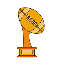 American football trophy cup vector
