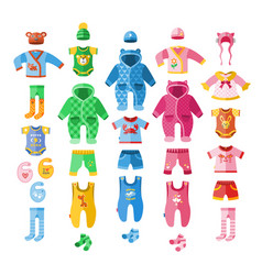 baby infant clothes textile vector image