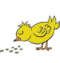 Bird eating seed vector