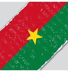 Burkina faso grunge flag vector