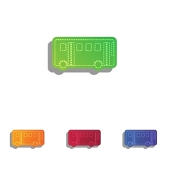 Bus simple sign Colorfull applique icons set vector image vector image