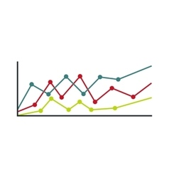 Business charts icon flat style vector image vector image