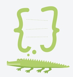 Card with alligator vector