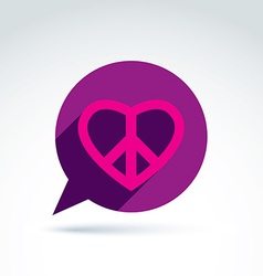 Chat on peace and love theme antiwar and love vector